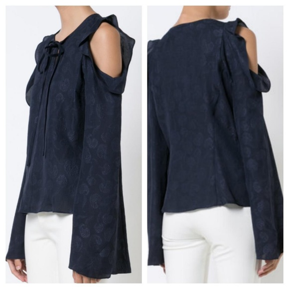 a41fa6a57a3c2 10 Crosby Derek Lam Ruffled Cold Shoulder Blouse